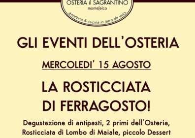 Rosticciata di Ferragosto – Pranzo o cena del 15 Agosto a Montefalco
