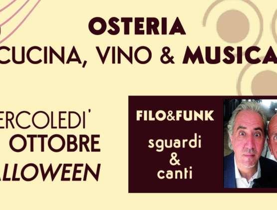 Mercoledì 31 Ottobre – Halloween: Cucina, Vino & Musica