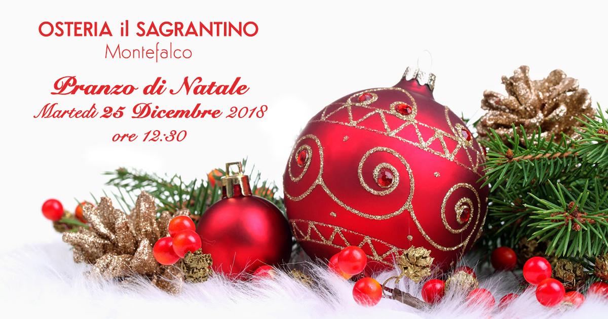 Pranzo di Natale - Osteria il Sagrantino