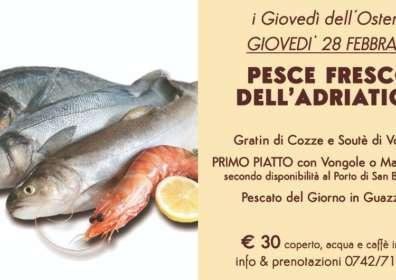 Pesce Fresco dell'Adriatico – Giovedì 28 Febbraio
