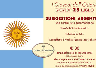Flavors from Argentina – 25 July 2019