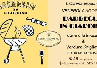 Maxi Barbecue in Giardino – 9 Agosto 2019